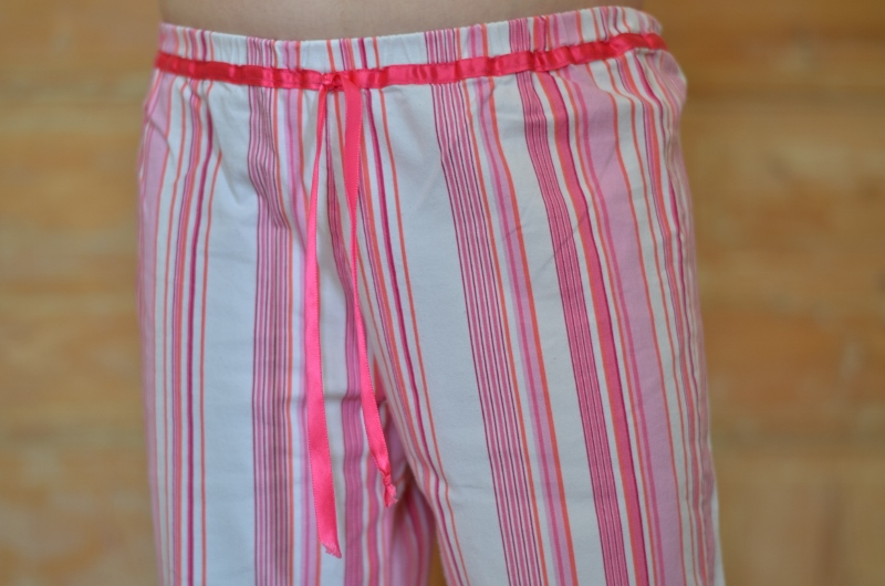 Pyjama à rayures détail ceinture